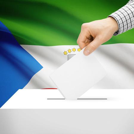 equatorial guinea: Ballot box with national flag on background series - Equatorial Guinea