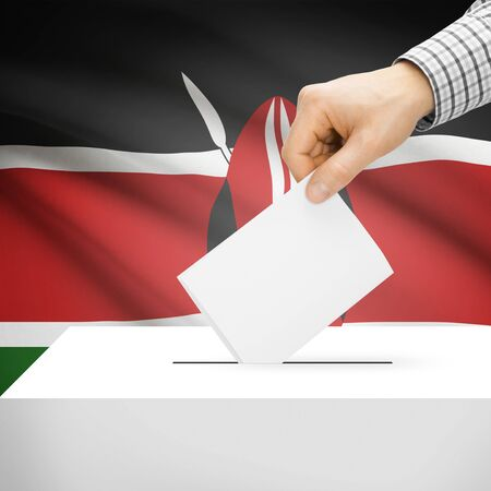 Ballot box with national flag on background series - Kenya photo