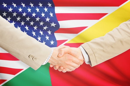 benin: Businessmen shaking hands - United States and Benin