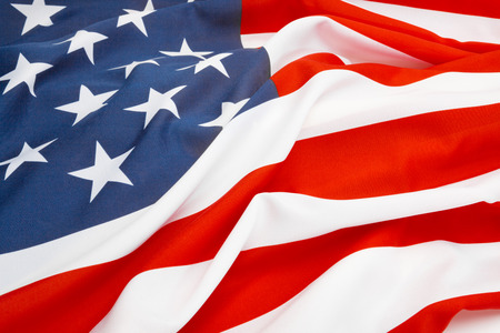 bandera estados unidos: Cierre de tiro de gran bandera de EE.UU.