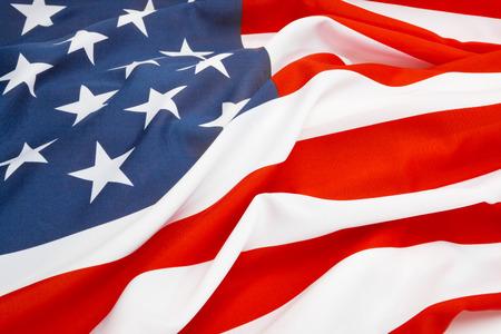 Close up shot of big US flag
