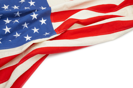 us government: US flag with place for text - close up