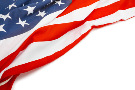 US flag with place for your text - close up studio shot Banco de Imagens