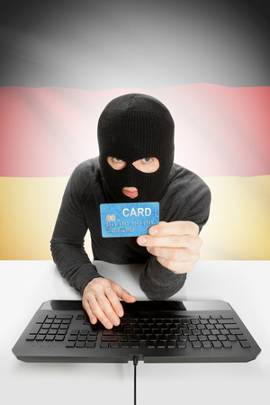 law breaking: Cybercrime concept with flag on background - Germany