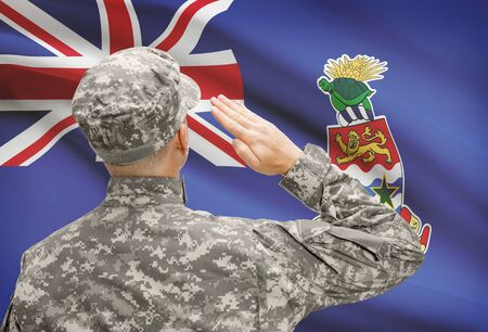 cayman islands: National military forces with flag on background conceptual series - Cayman Islands Stock Photo