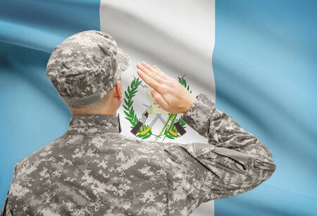 sovereignty: National military forces with flag on background conceptual series - Guatemala Stock Photo