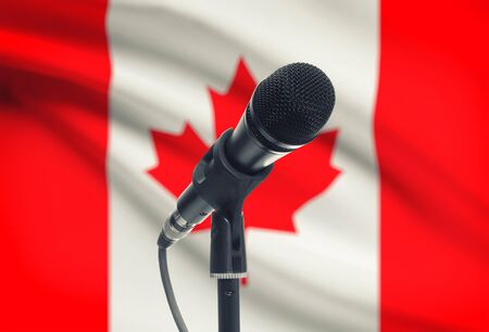 Microphone with national flag on background series - Canada