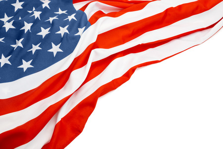 US flag with white space for your text