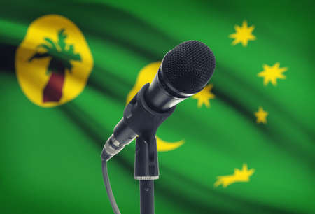 cocos: Microphone with national flag on background series - Cocos (Keeling) Islands