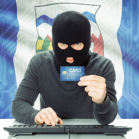 northwest: Hacker with Canadian province flag - Northwest Territories Stock Photo