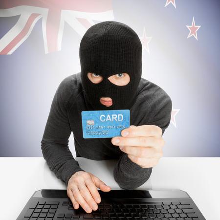 bandera de nueva zelanda: Concepto de Cibercrimen de la bandera - Nueva Zelanda