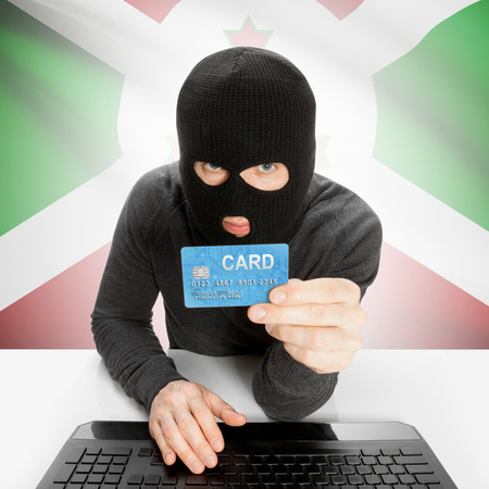burundi: Cybercrime concept with flag - Burundi