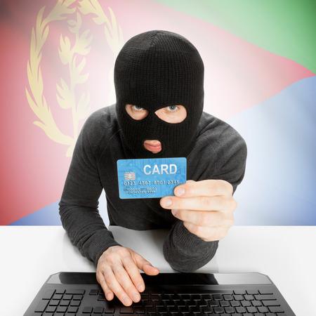 cybercrime: Cybercrime concept with flag - Eritrea Stock Photo