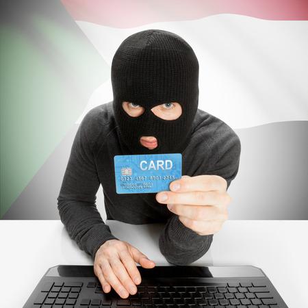 cybercrime: Cybercrime concept with flag - Sudan