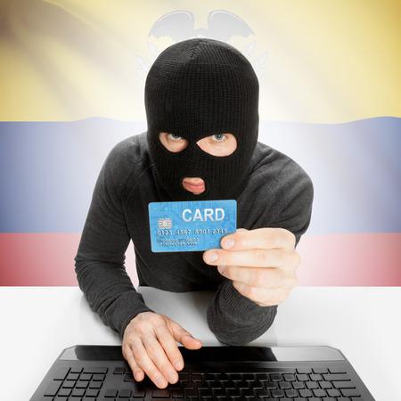 cybercrime: Cybercrime concept with flag - Ecuador