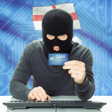 alberta: Hacker with Canadian province flag - Alberta Stock Photo