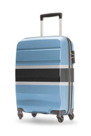 botswanan: Suitcase painted into national flag - Botswana