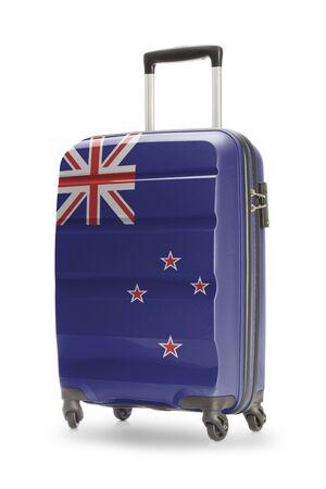 flag of new zealand: Suitcase painted into national flag - New Zealand