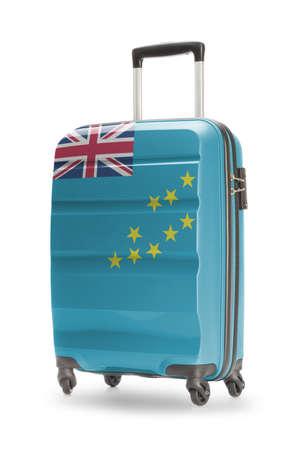 tuvalu: Suitcase painted into national flag - Tuvalu Stock Photo