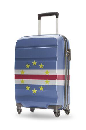 cape verde: Suitcase painted into national flag - Cape Verde