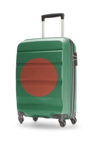 national flag bangladesh: Suitcase painted into national flag - Bangladesh