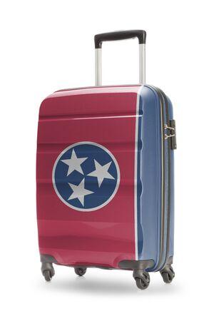 tennesse: Maleta pintado en la bandera del estado de Estados Unidos - Tennessee