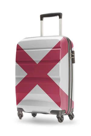 Alabama: Suitcase painted into US state flag - Alabama