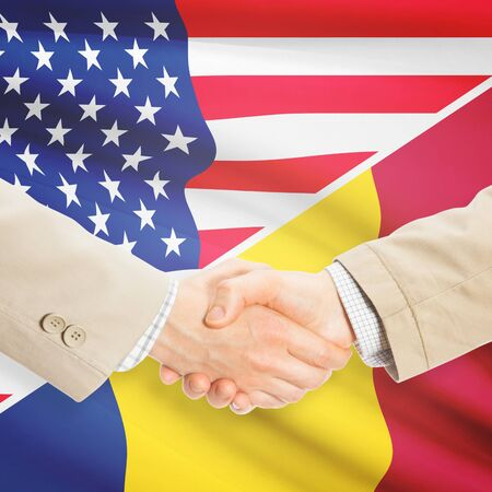 chadian: Businessmen shaking hands - United States and Chad
