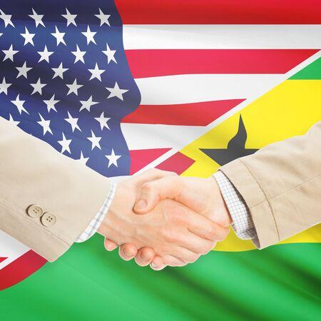 principe: Los hombres de negocios d�ndose la mano - Estados Unidos y Santo Tom� y Pr�ncipe
