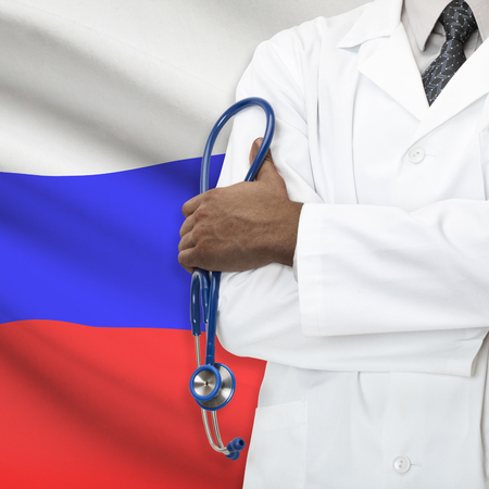 russian man: Concept of national healthcare system series - Russia Stock Photo