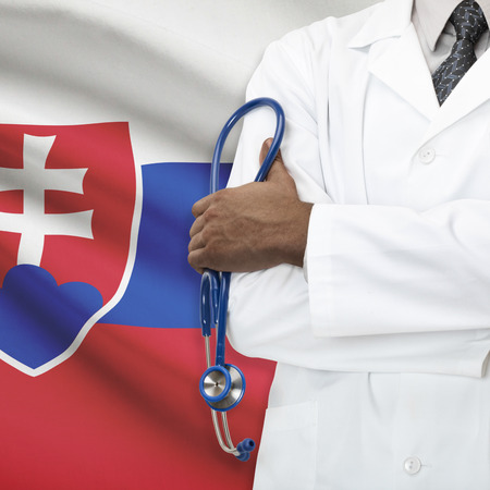 slovak: Concept of national healthcare system series - Slovakia Stock Photo