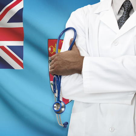 fijian: Concept of national healthcare system series - Fiji Stock Photo