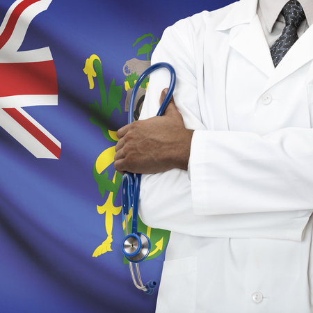 pitcairn: Concept of national healthcare system series - Pitcairn Island Stock Photo