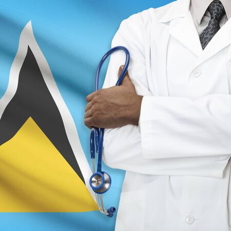 lucia: Concept of national healthcare system series - Saint Lucia Stock Photo