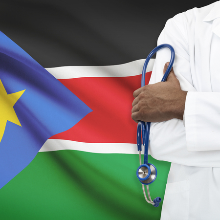 south sudan: Concept of national healthcare system series - South Sudan Stock Photo
