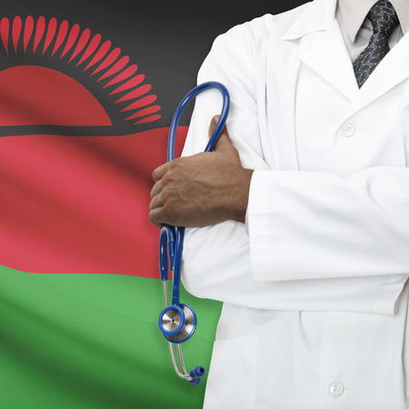 malawian flag: Concept of national healthcare system series - Malawi Stock Photo