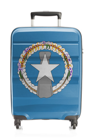 mariana: Suitcase painted into national flag series - Northern Mariana Islands