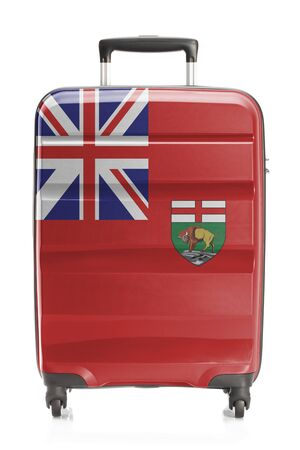 manitoba: Suitcase painted into Canadian territory or province flag series - Manitoba