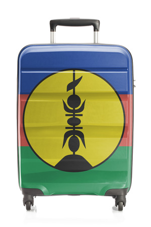 new caledonia: Suitcase painted into national flag series - New Caledonia