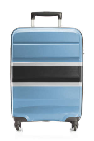 botswanan: Suitcase painted into national flag series - Botswana