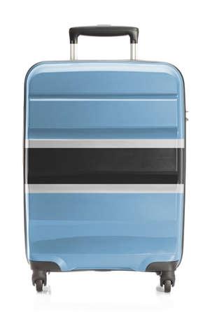botswanan: Suitcase painted into national flag series - Botswana