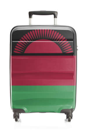 malawian: Suitcase painted into national flag series - Malawi Stock Photo