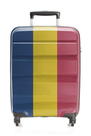 chadian: Suitcase painted into national flag series - Chad