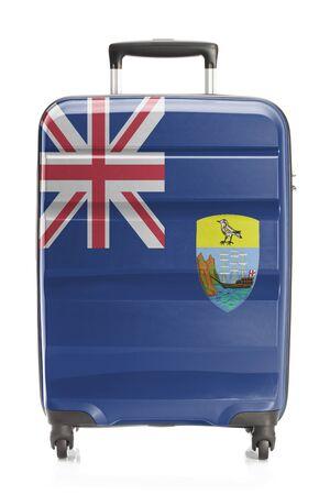 helena: Suitcase painted into national flag series - Saint Helena
