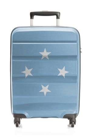 micronesia: Suitcase painted into national flag series - Micronesia