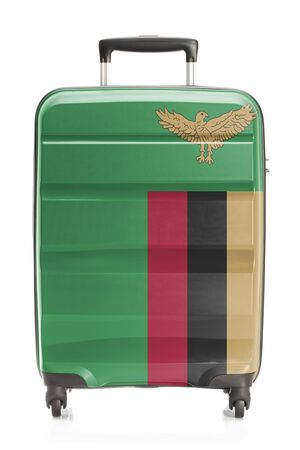 zambian flag: Suitcase painted into national flag series - Zambia