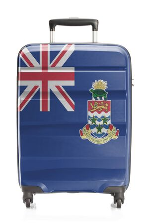 cayman islands: Suitcase painted into national flag series - Cayman Islands Stock Photo