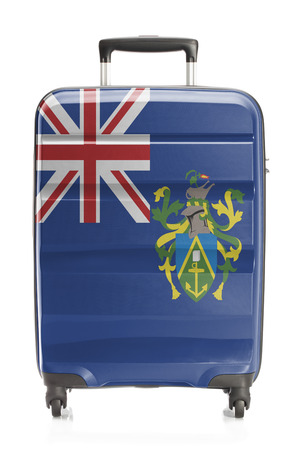 pitcairn: Suitcase painted into national flag series - Pitcairn Islands Stock Photo