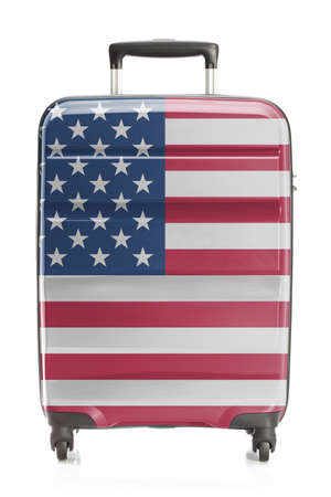 suitcase packing: Suitcase painted into national flag series - United States Stock Photo