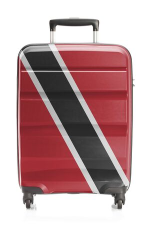 national flag trinidad and tobago: Suitcase painted into national flag series - Trinidad and Tobago